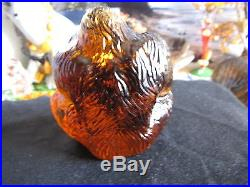 Kjell Engman art glass Gorilla Monkey orangutan Pongo figurine WWF animal