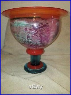 Kjell Engman for Kosta Boda Monumental Art Glass Vase. Multi colored