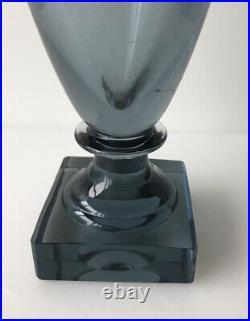 Kosta Art Deco Vase Footed Elis Bergh Signed BH 1353 10-3/16 Hollywood Regency