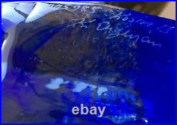 Kosta BODA / Kjell Engman Beautful Face in Glass / Signed by the artist