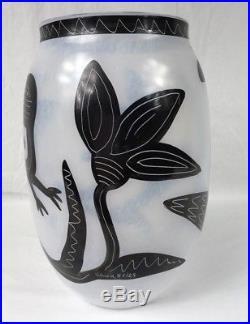 Kosta Boda 11 Caramba Vase Ulrica Hydman-Vallien SWEDISH PRIMAL BIRD FLOWER