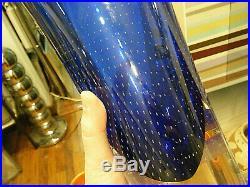 Kosta Boda 14 Large Goran Warff Controlled Bubble Zoom Art Glass Vase Sommerso