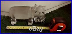 Kosta Boda 2 Hippopotamus Bertil Vallien Zoo Series Figurines 8.5 & 4