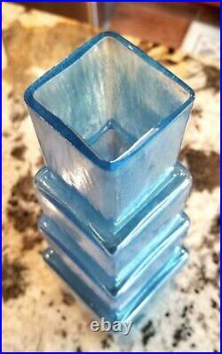 Kosta Boda Abstract Design Metropolis Glass Vase Art Sculpture B. Vallien Mint