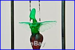 Kosta Boda Angels Green Kjell Engman Signed Limited Edition Sculpture of 100