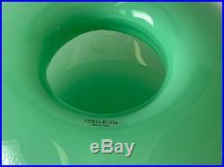 Kosta Boda Anne Nilsson Donut Hand Blown Glass Vase Bowl