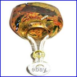 Kosta Boda Art Glass 89252 Signed Bertil Vallien Yellow Satellite Bottle, 9 1/4