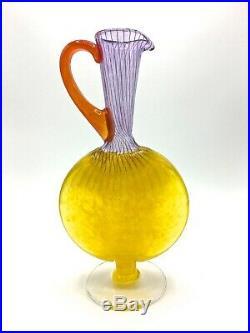 Kosta Boda Art Glass 9 7/8 h x 2 1/2 deep x 5 w collectible retro