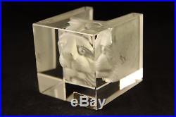 Kosta Boda Art Glass B Vallien Lion Cat Viewpoints Sculpture Candle Cup #68527