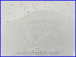 Kosta Boda Art Glass Bertil Vallien 9-1/4 NETWORK BOTTLE VASE Numbered Rare