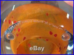 Kosta Boda Art Glass DREAMER Egg Form & Head Sculpture-Bertil Vallien