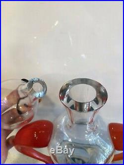 Kosta Boda Art Glass Decanter Carafe Kjell Engman 89201 Form Of A Woman