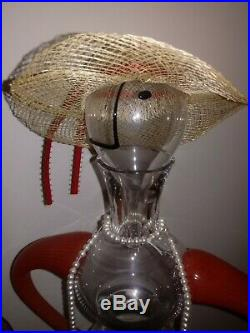 Kosta Boda Art Glass Decanter Carafe Kjell Engman 89201 Form of a Woman Signed
