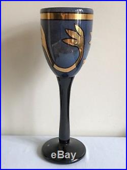 Kosta Boda Art Glass Goblet By Ulrica Hydman Vallien (Signed, Limited Ed.)
