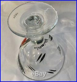 Kosta Boda Art Glass Goblet Open Minds Ulrica Hydman-Vallien, Excellent