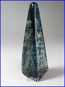 Kosta Boda Art Glass Göran Wärff Obelisk Sculpture