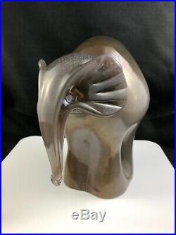 Kosta Boda Art Glass Luvig Lofgren 8 1/2 Abulabbas Elephant Figurine 7091107