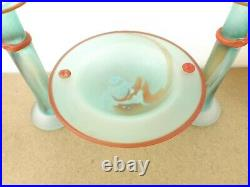 Kosta Boda Art Glass Pandora Candlesticks & Compote Monica Backstrom (itm#b8)