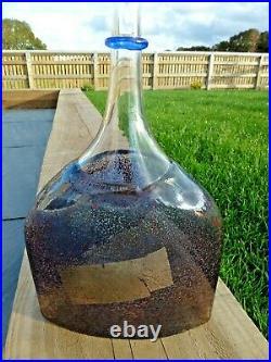 Kosta Boda Art Glass Satellite Bottle Vase sign Bertil Vallien with label