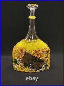Kosta Boda Art Glass Satellite Bottle Vase signed Bertil Vallien