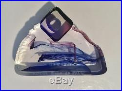 Kosta Boda Art Glass Sculpture In The Stone by Bertil Vallien Signed Numbered