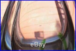 Kosta Boda Art Glass Seaweed Fish Vase 8.5 Vicke Lindstrand LG 349 Sweden