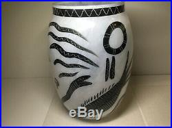 Kosta Boda Art Glass Ulrica Hydman Vallien Caramba Black and White Adam Eve Vase