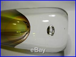 Kosta Boda Art Glass Vase Design Modell 1842 Sweden Vase Suede Signed