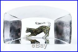 Kosta Boda Art Glass Viewpoints Collection Panther 99516 by Bertil Vallien