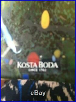 Kosta Boda Atelier Signed Bertil Vallien Satellite Bottle Approx 11.5 high