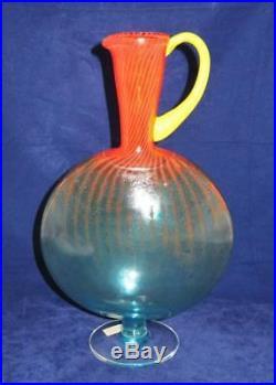 Kosta Boda BON BON Art Glass Large Jug Decanter, Kjell Engman New with Tag 85066