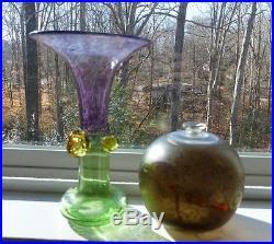 Kosta Boda Berti Vallien Swedish 2 (two) Pieces of Glass, Signed