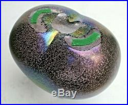 Kosta Boda Bertil Vallien 9 Volcano Swedish Iridescent Art Glass Vase 48238