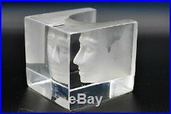 Kosta Boda. Bertil Vallien. Art Object Cube With Frosted Face