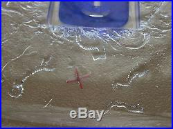 Kosta Boda Bertil Vallien Blue Domino Swimmer Glass Art Dish