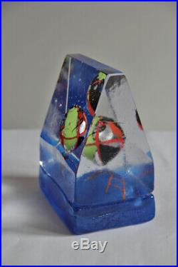 Kosta Boda Bertil Vallien -Blue House, WORLD, - artglass objekt NEU unbenutzt