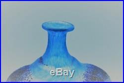 Kosta Boda. Bertil Vallien. Bottle/vase Doorway With Smiling Face In Blue