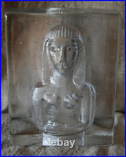 Kosta Boda Bertil Vallien Brutalist Woman Sculpture Bookend Mid Century MCM