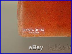 Kosta Boda Bertil Vallien CUBE IN A BOX Ltd Ed Sculpture-Head in Window