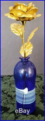 Kosta Boda Bertil Vallien Cobalt Glass ATELIER 5.5 Vase Signed & #'d ONE of 1