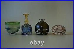 Kosta Boda Bertil Vallien Collection Of Three Vases And Paperweight