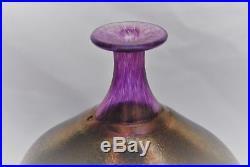 Kosta Boda. Bertil Vallien. Large Bottle/vase Volcano 20 CM X 19 CM