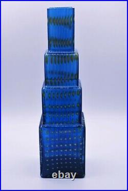 Kosta Boda. Bertil Vallien. Large Vase Metropolis In Blue And Brown. Signed