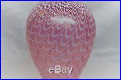 Kosta Boda Bertil Vallien. Large Vase Minos In Pink. 26 CM