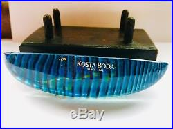 Kosta Boda Bertil Vallien Lovely Mini Boat Journey Glass Sculpture