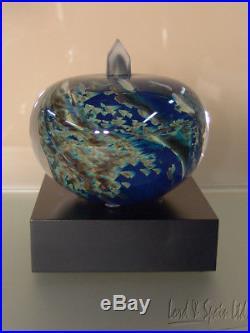 Kosta Boda Bertil Vallien MY UNIVERSE Earth Series Art Glass Sculpture