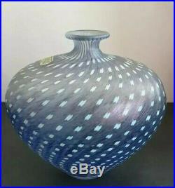 Kosta Boda Bertil Vallien. Mauve Minos Vase. Artist collection. Scandinavian