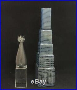 Kosta Boda Bertil Vallien Metropolis City Skyscraper Art Glass Sculpture 22 1/2