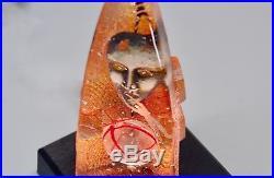 Kosta Boda Bertil Vallien Orbit Halfboat White Limited Sculpture Signed 200 pcs