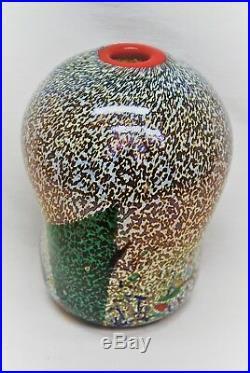 Kosta Boda. Bertil Vallien. Rare Vase Meteor Signed. 16,5 CM